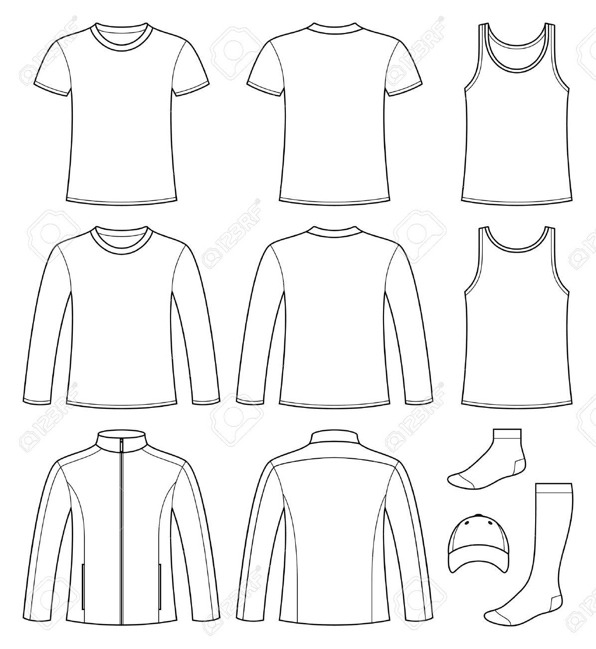 Singlet T Shirt Long Sleeved T Shirt Jacket Socks And Cap
