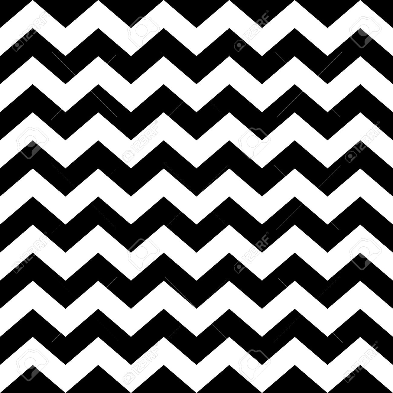 seamless zig zag pattern in black and white abstract background