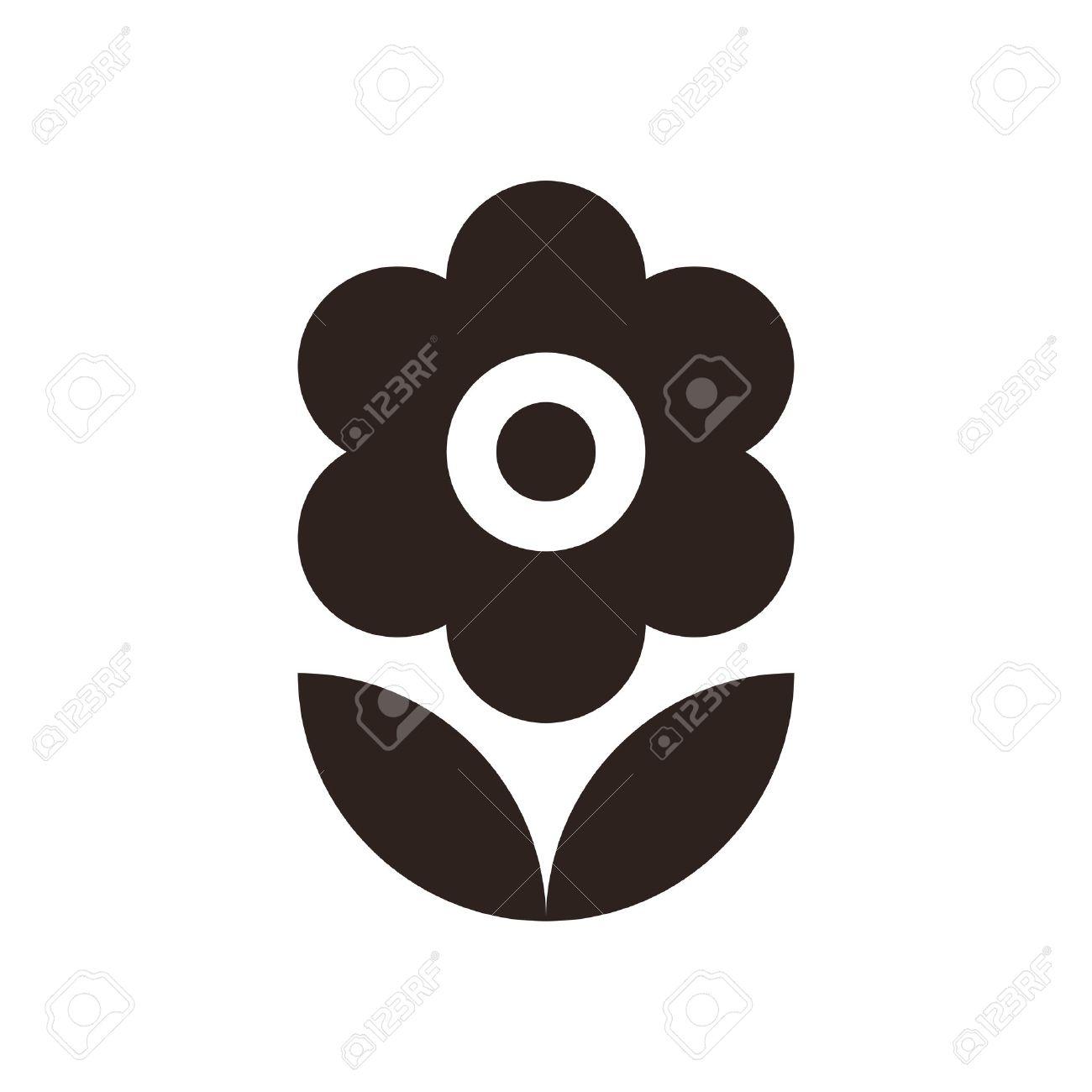 Flower icon isolated on white background - 40818633