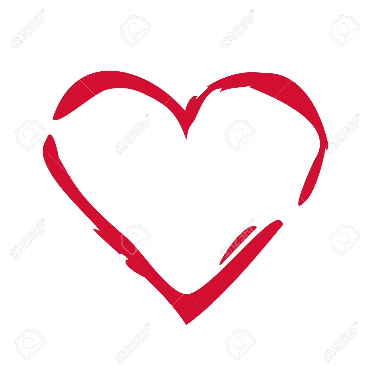 Heart isolated on white background - 131975487