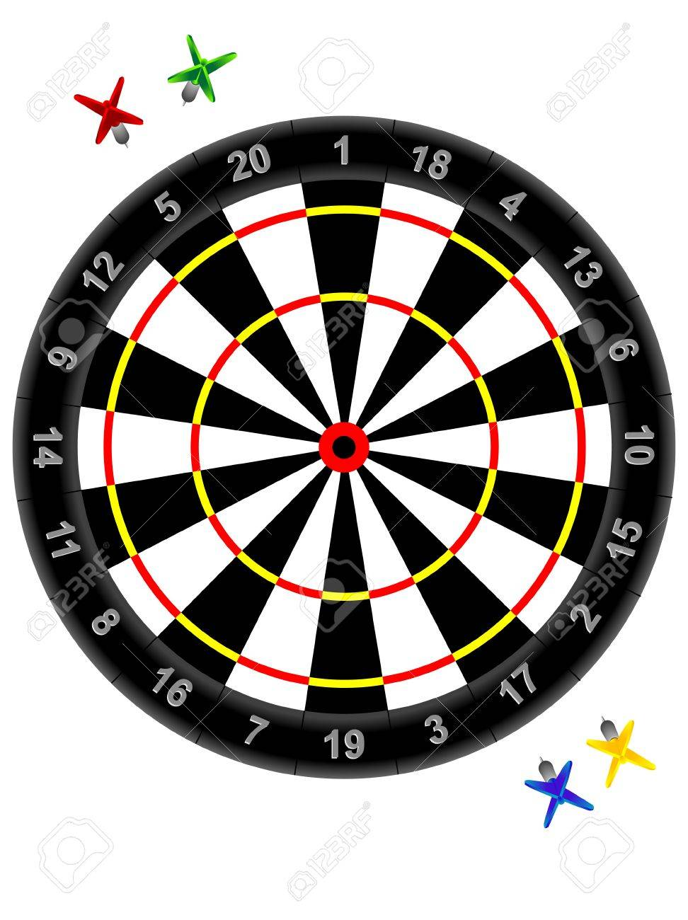 Darts And Target For Game a