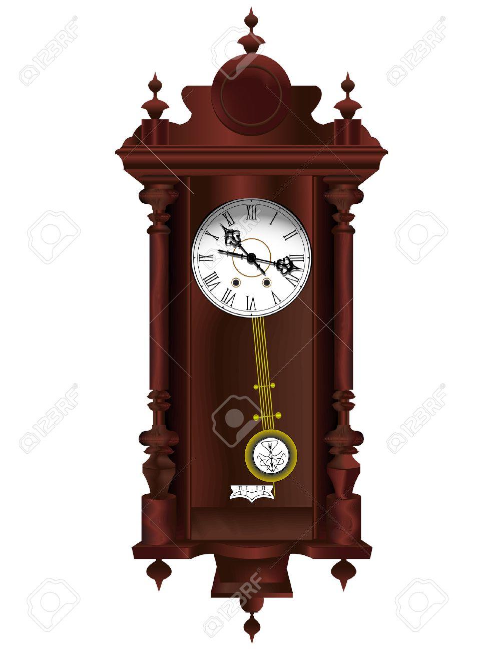 Vector Con Péndulo Anticuario De En Un Madera Reloj uFKlJTc13