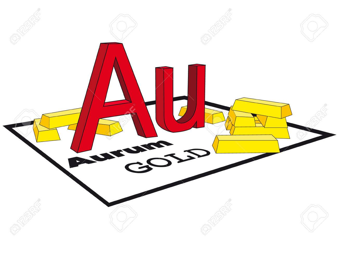 Gold a symbol in a periodic table and ingots in a vector royalty gold a symbol in a periodic table and ingots in a vector stock vector 4931866 urtaz Image collections