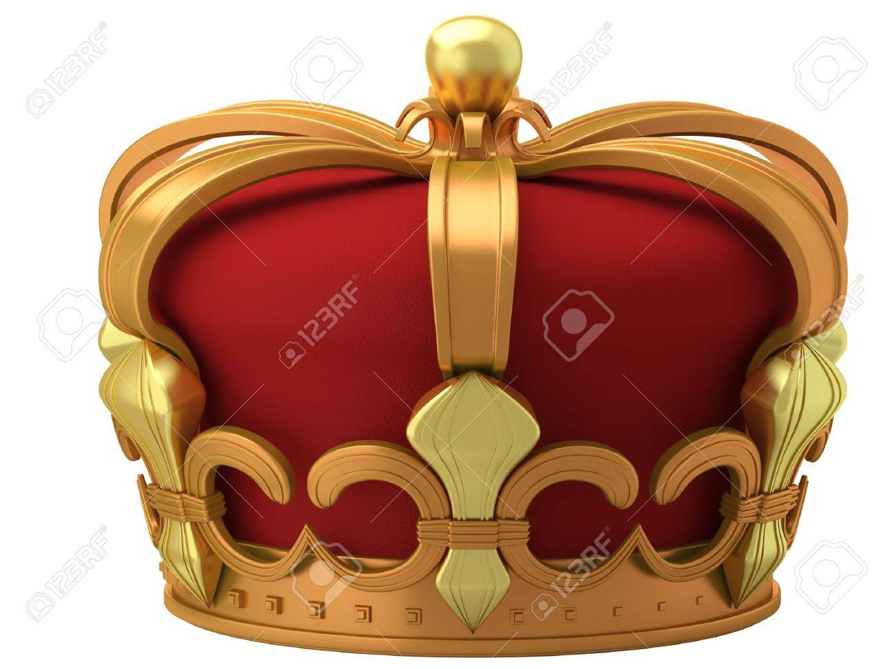 Royal gold crown isolated on a white background Stock Photo - 9278935