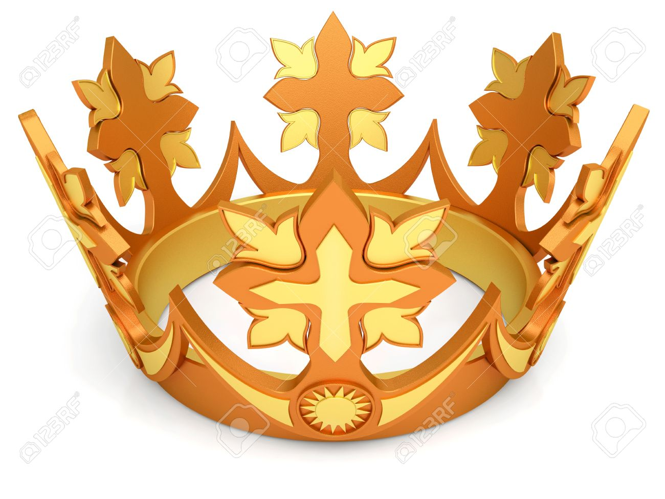 Royal Crown From Gold A Symbol Of Authority Stock Photo Picture And