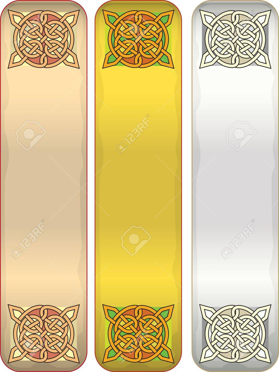 Elements of design of a tape with celtic an ornament Stock Vector - 13998816