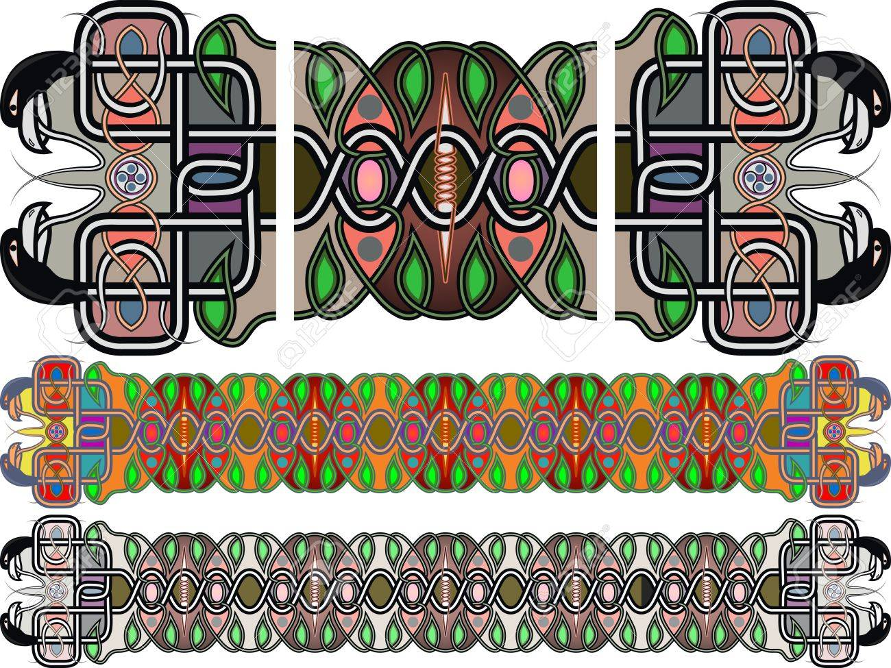 Traditional Medieval Celtic Patterns In A Vector Royalty Free ...