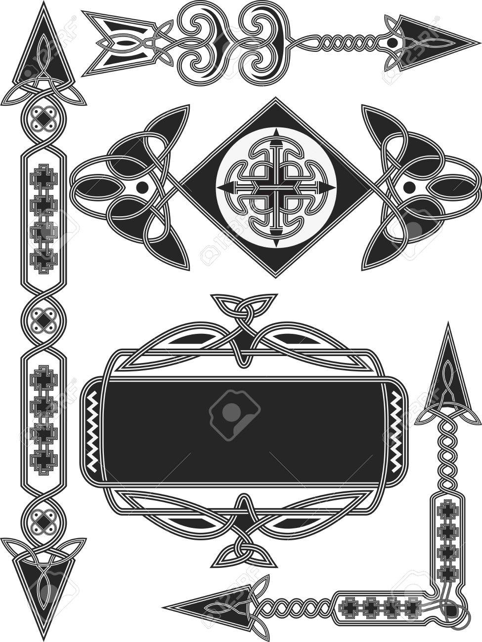 Celtic traditional elements for design in a vector Stock Vector - 15483921