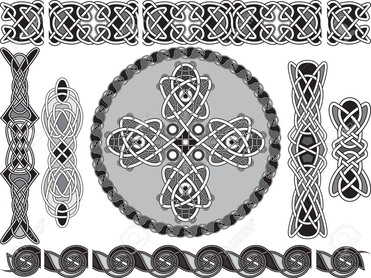 Elements of design in traditional celtic style a vector Stock Vector - 17330186