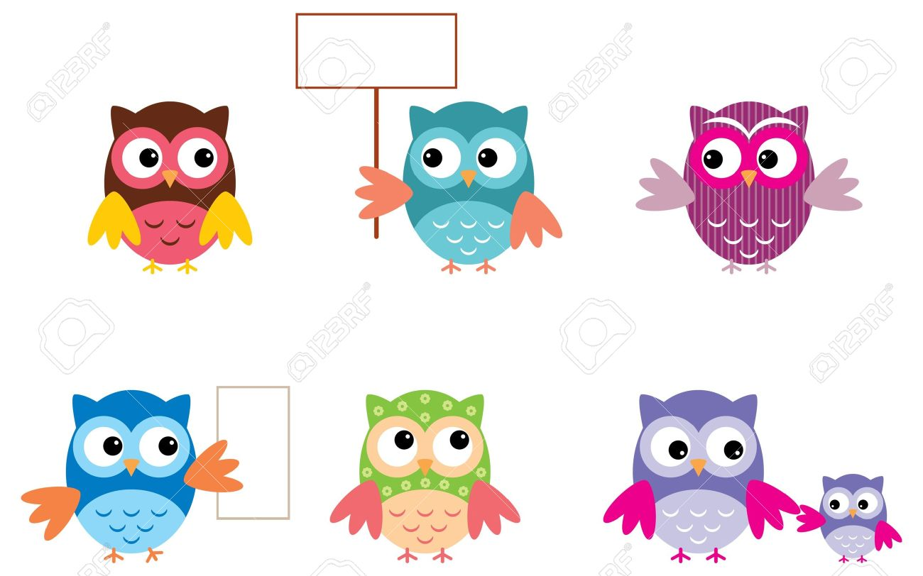 The Drawn Owls, Different Types Stock Vector - 15464336