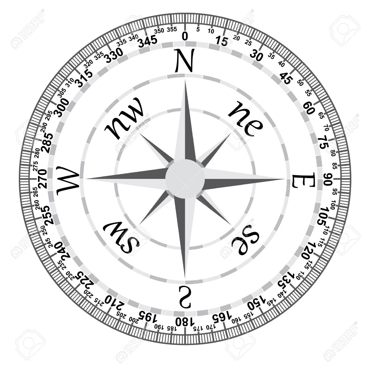 Image of Compass on a white background. Stock Vector - 18287824