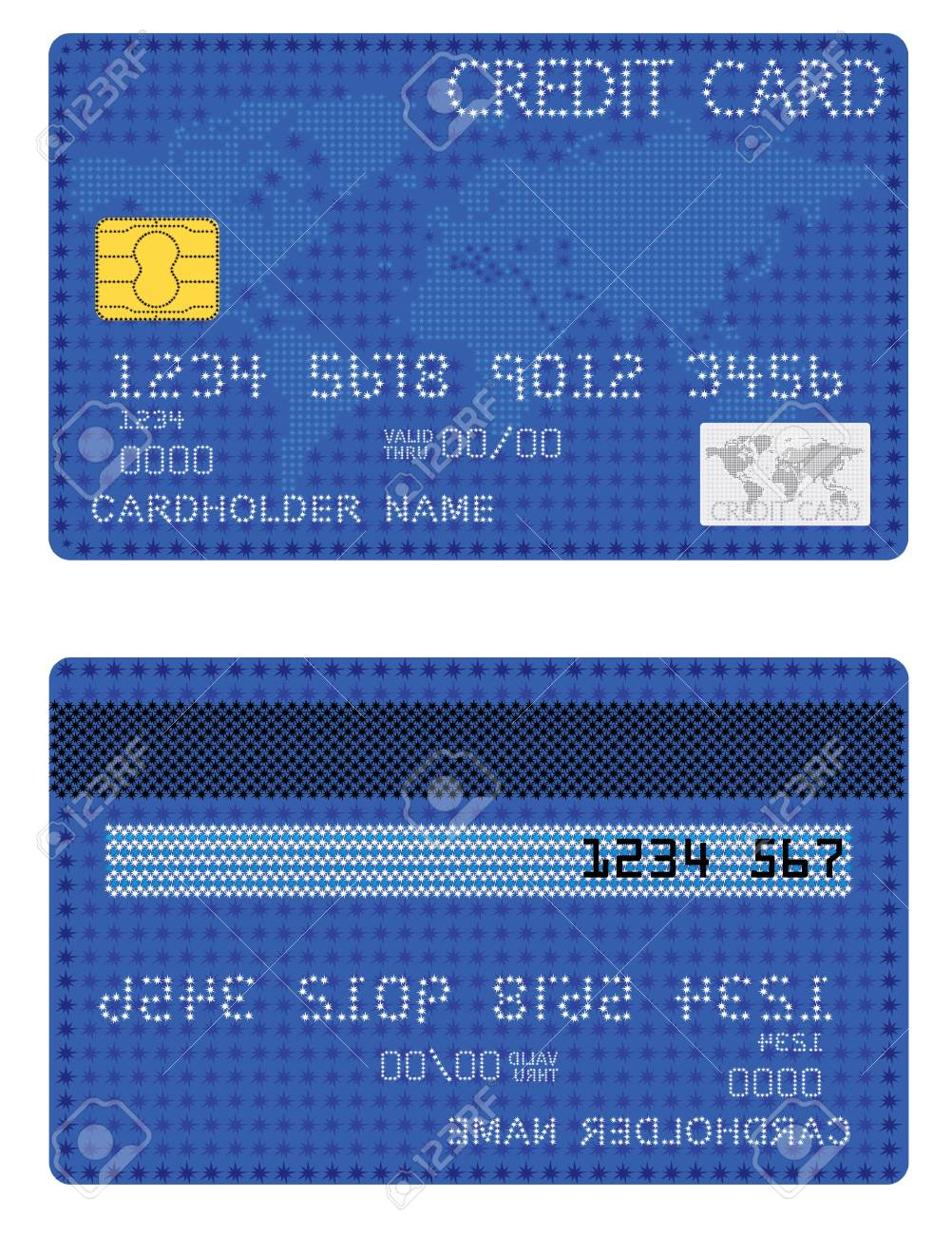 Credit Card of the stars Stock Vector - 20679314