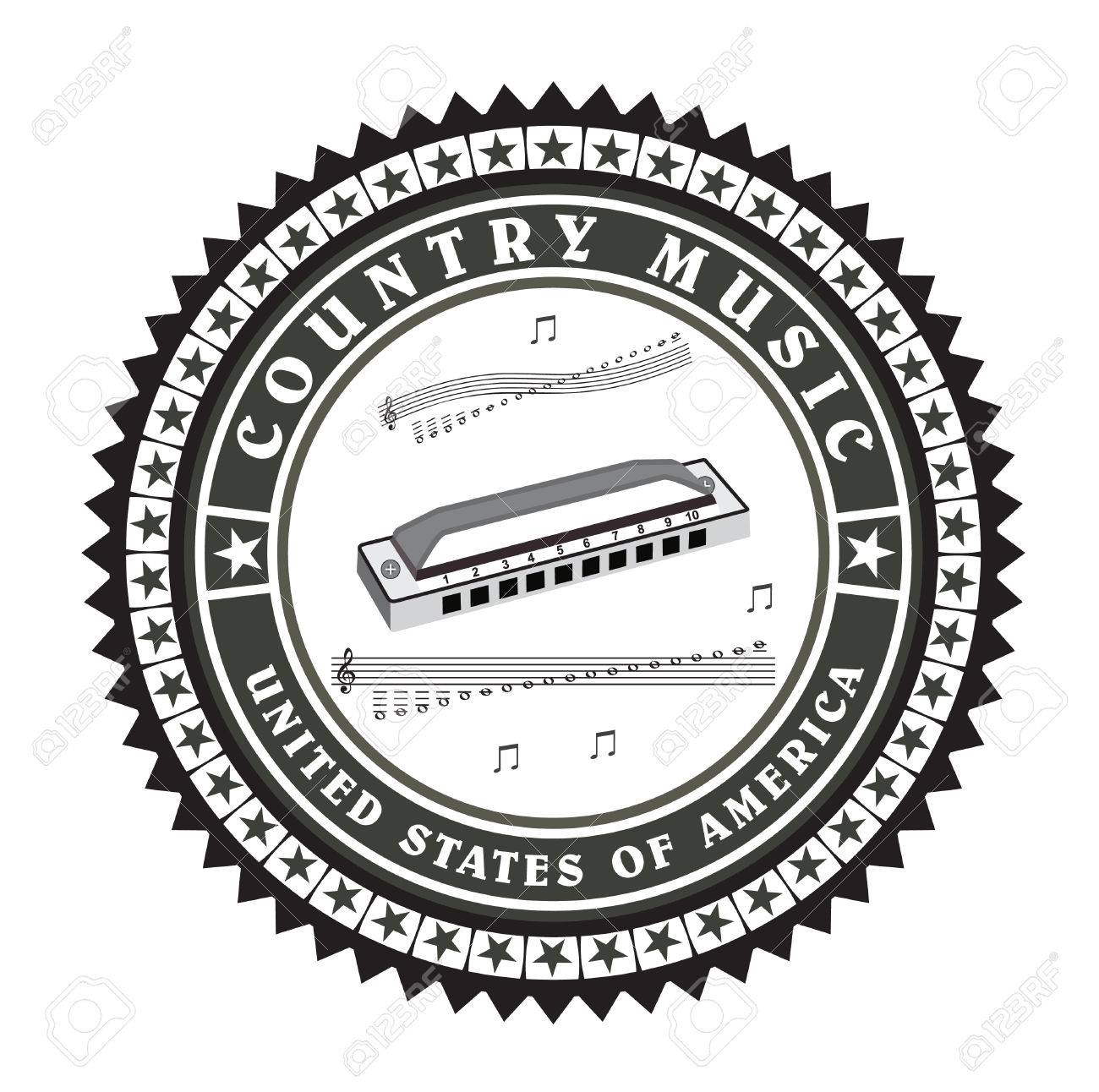 Vector - Vintage label country music vector
