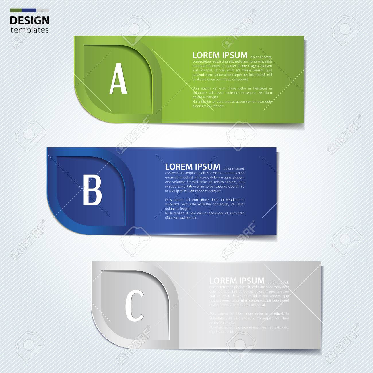 Set Of Paper Banners, Bookmarks. Modern Design Template. Royalty ...