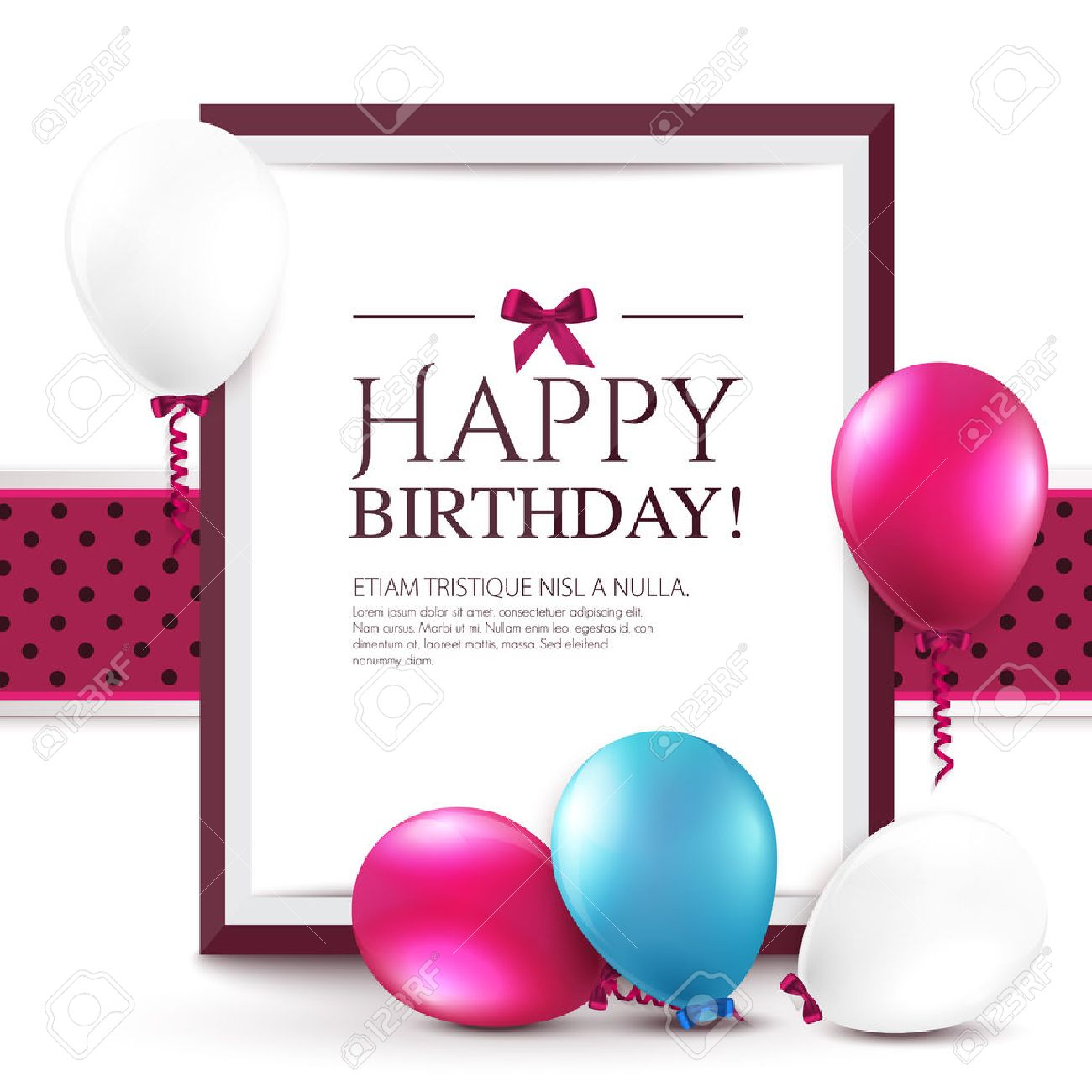 Birthday card with balloons and frame royalty free cliparts birthday card with balloons and frame stock vector 24664015 bookmarktalkfo Image collections