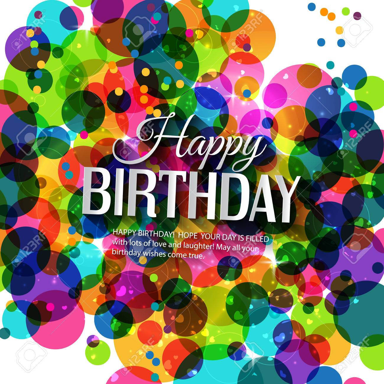 Birthday card in bright colors. - 31423557