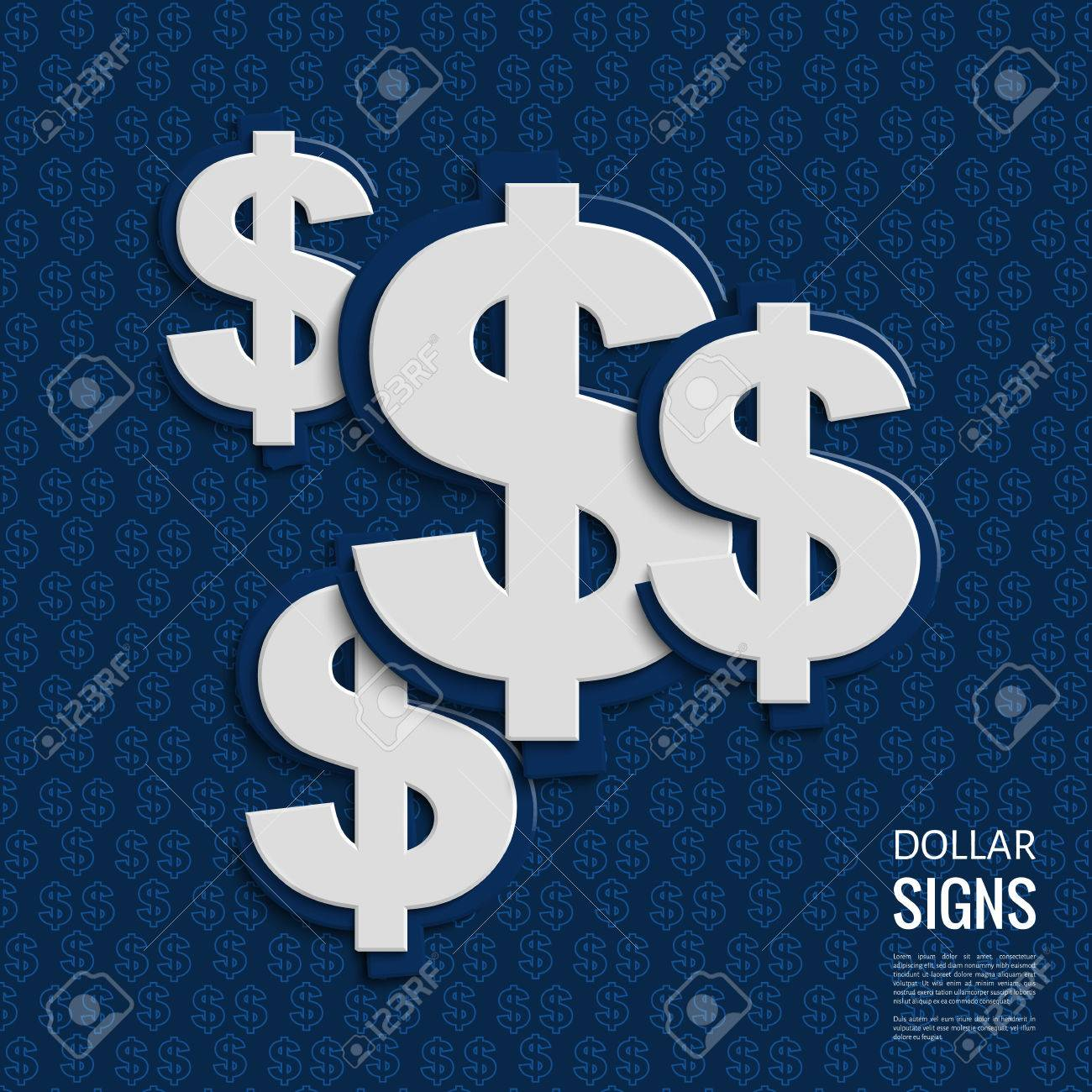 Dollar signs on blue background. - 31830726