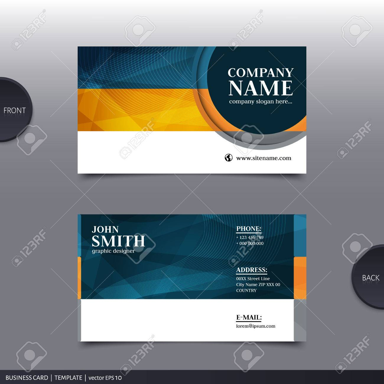 Vector Abstract Creative Business Card Design Template. Royalty Free ...
