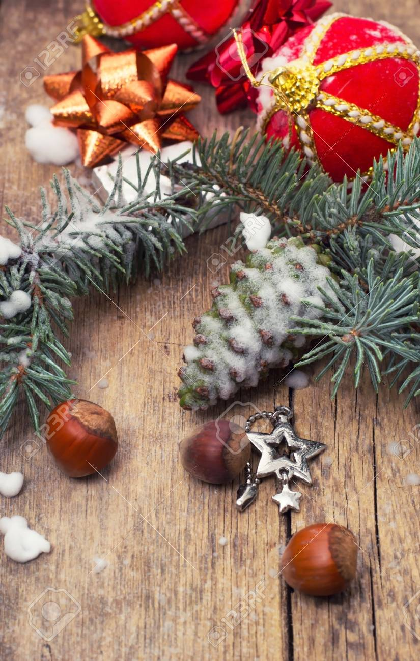 traditional Christmas decorations for new year holidays Stock Photo - 22534703