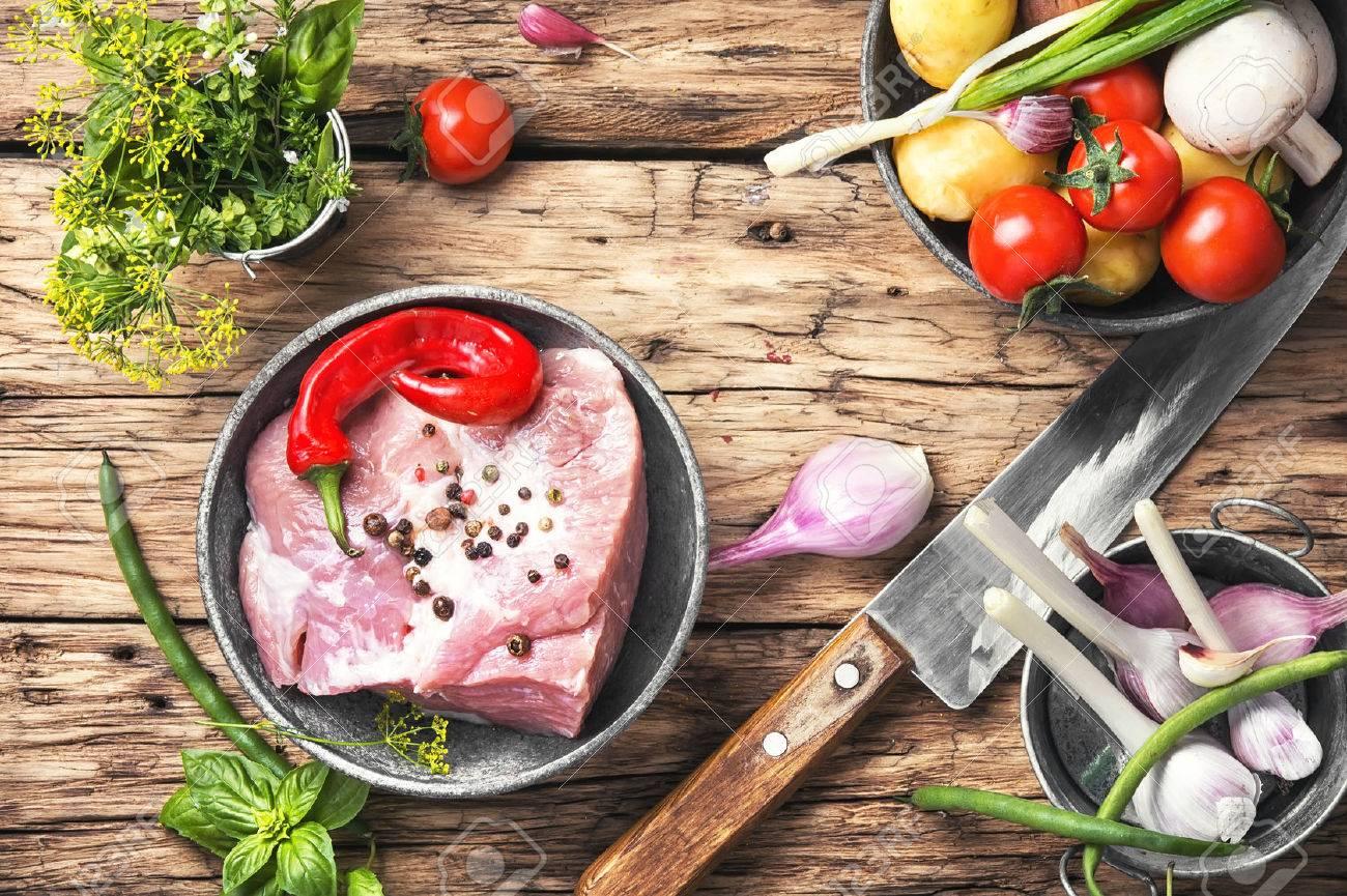 Raw sirloin pork meat Stock Photo - 82670251