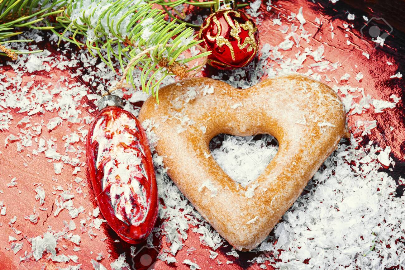 Christmas homemade gingerbread or New Year cookies - 135267343