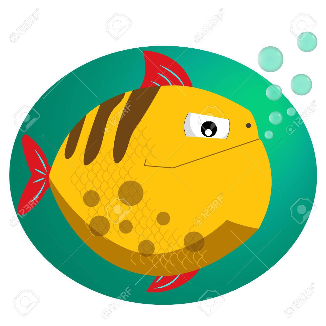 Piraña. Ilustración Vectorial De Estilo Plano De Pescado. Peces ...