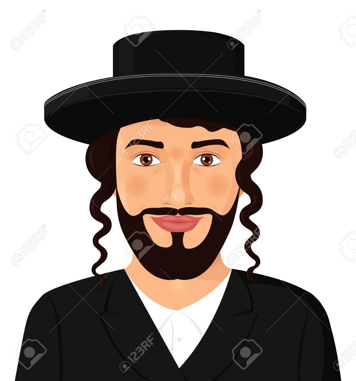 Foto de archivo retrato de hombre judío ortodoxo con sombrero en un traje  negro jpg 1213x1300 e7152417c0e