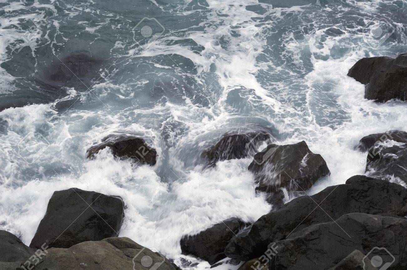 Storm  Waves and sea foam Stock Photo - 17453052
