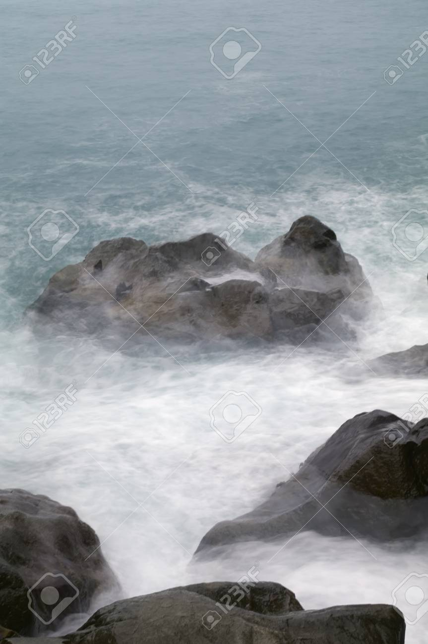 Storm  Waves and sea foam Stock Photo - 17453035