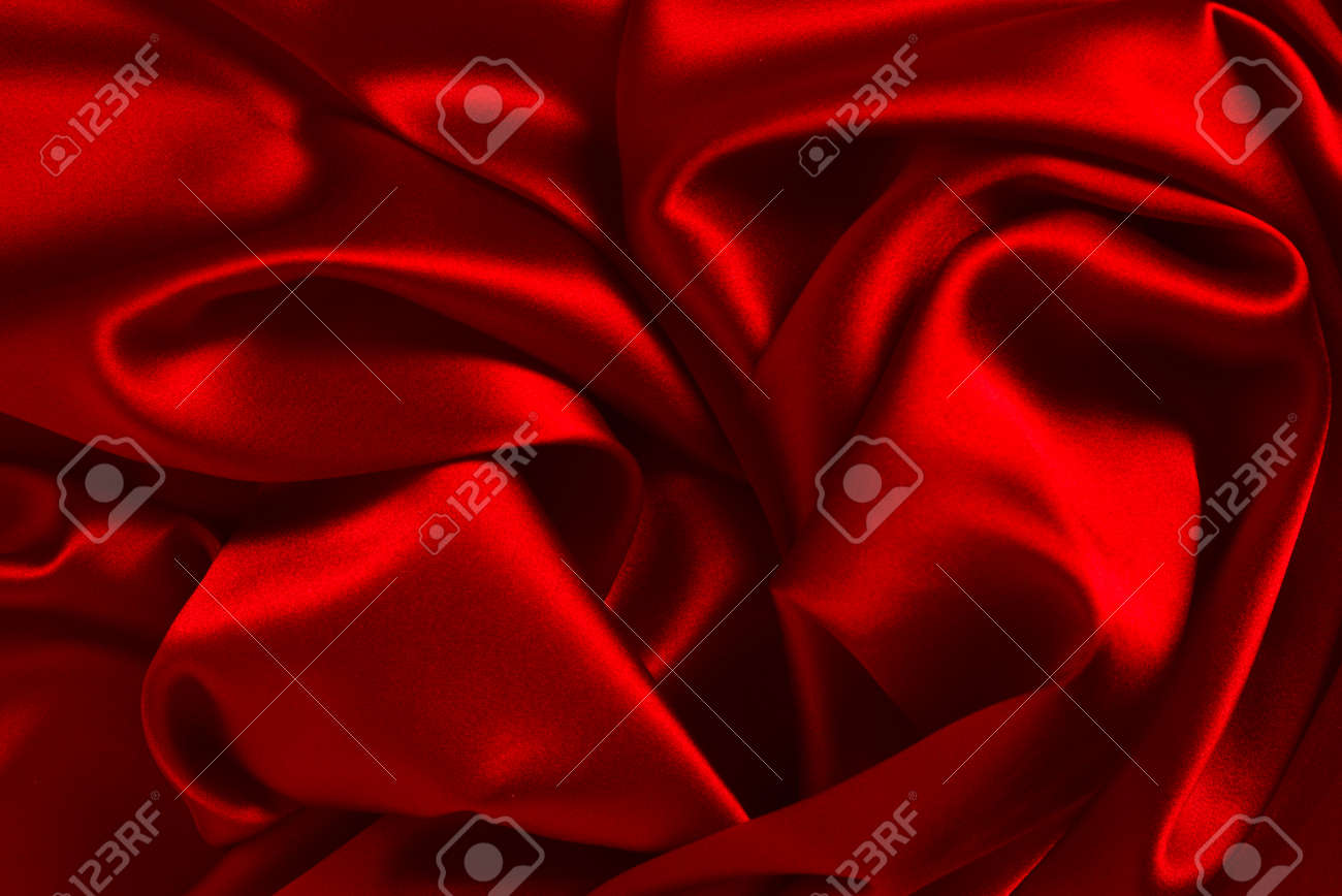 Red silk or satin luxury fabric texture can use as abstract background. Top view. - 159829454