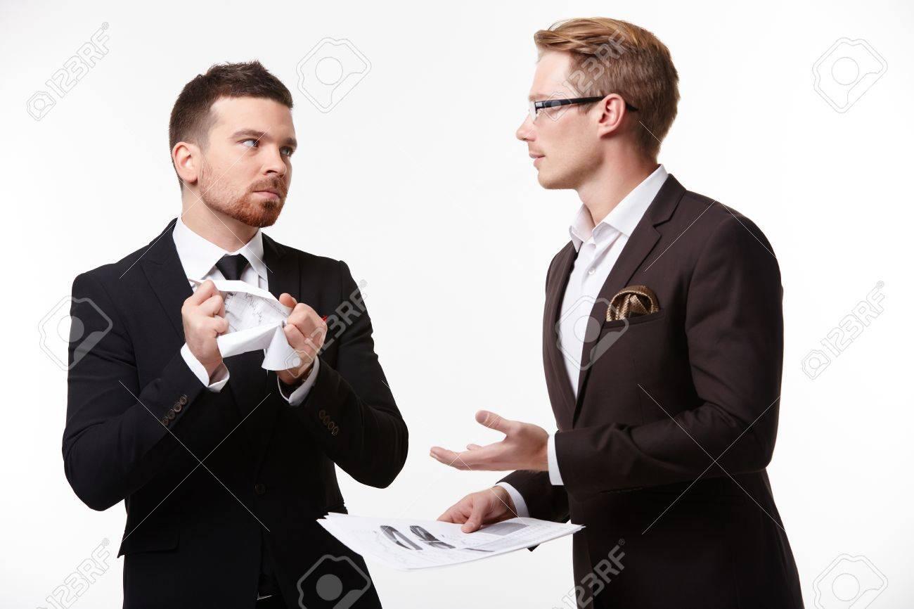 two businessmen arguing - 37871154