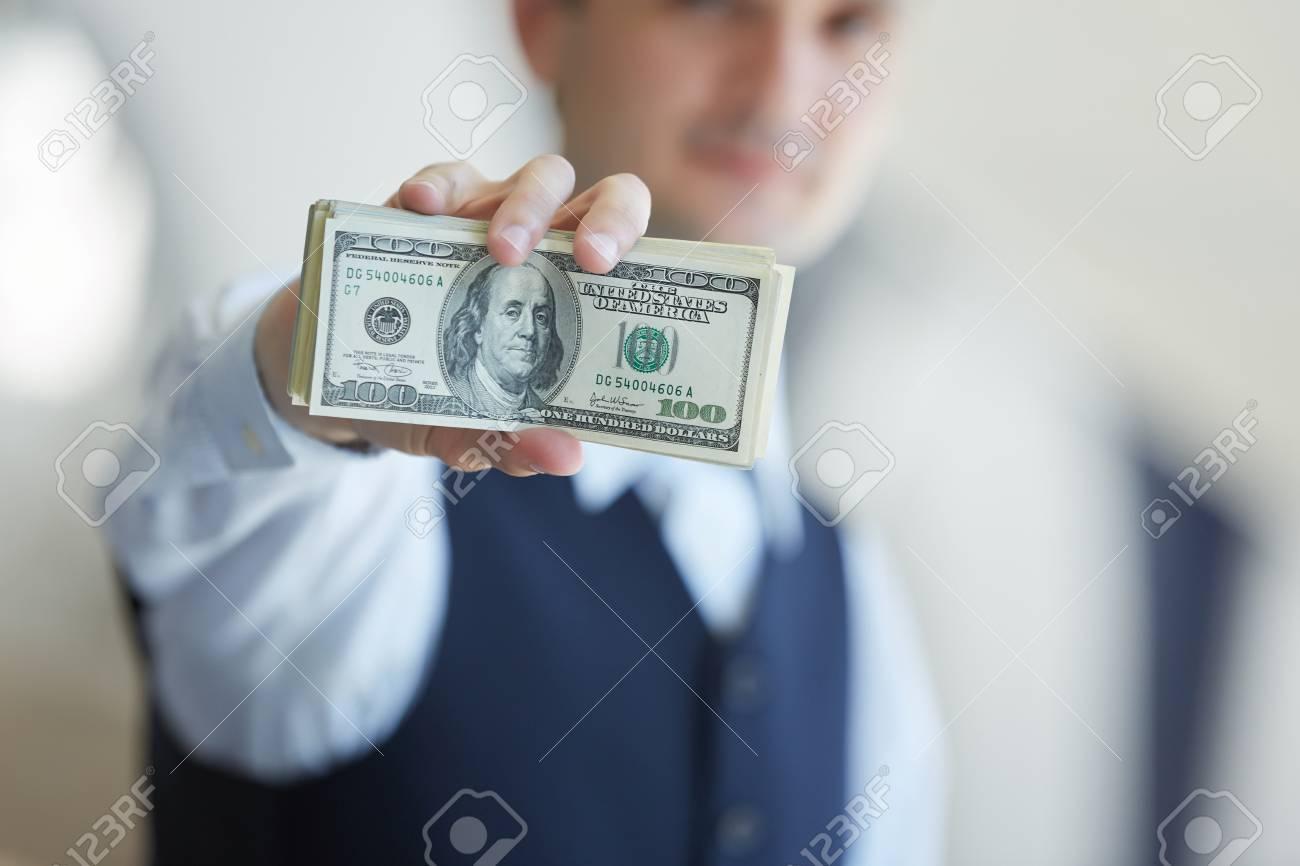 closeup money in male hands - 43954898