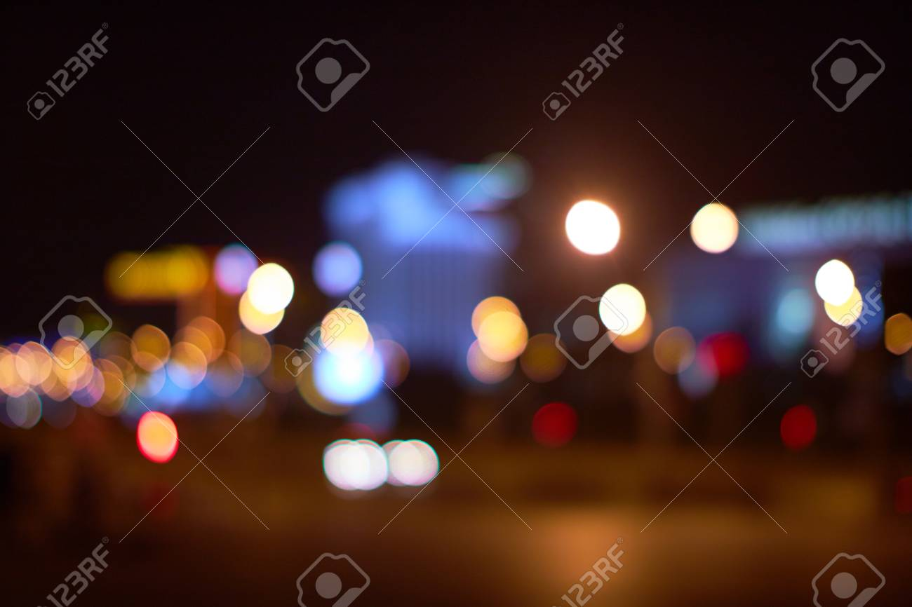 city lights abstract - 82921334