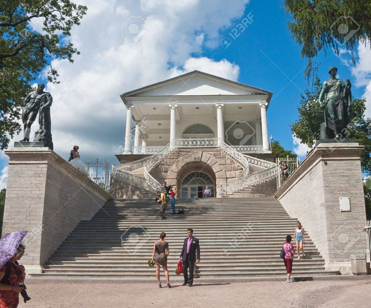 Russia  St -Petersburg  Tsarskoe Selo  Pushkin   The Cameron Gallery in Catherine Stock Photo - 12926065