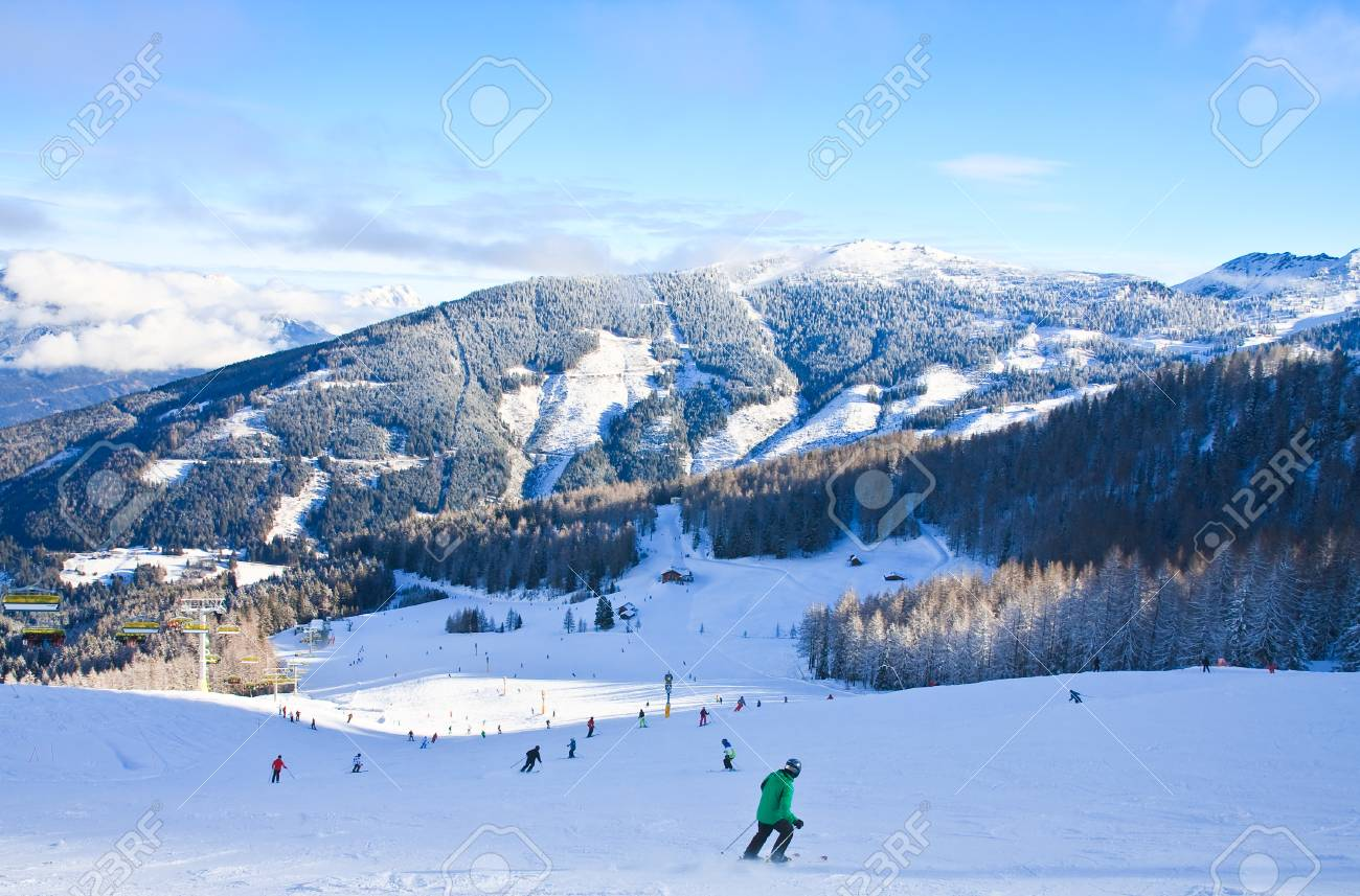ski resort schladming . austria stock photo, picture and royalty