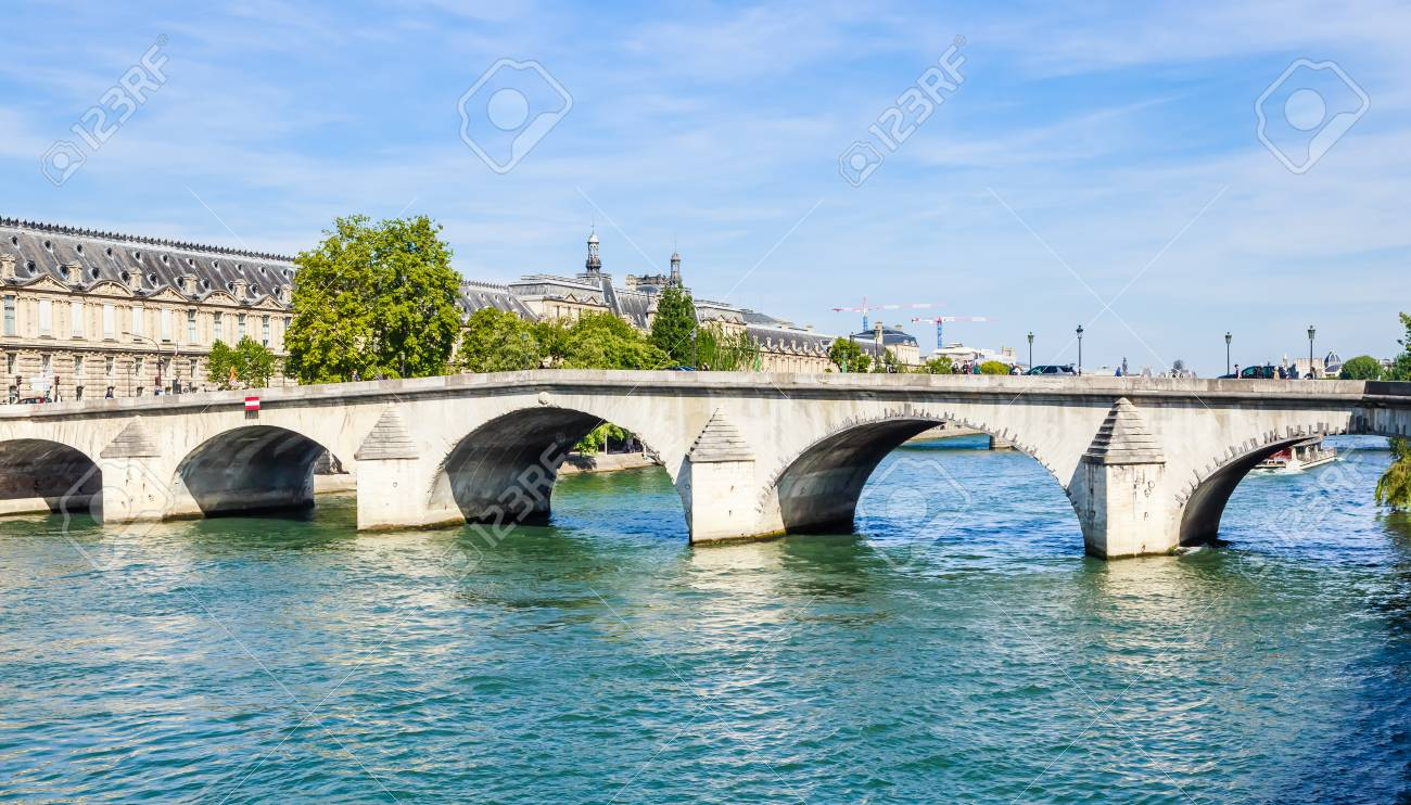 View Of Pont Royal Paris France