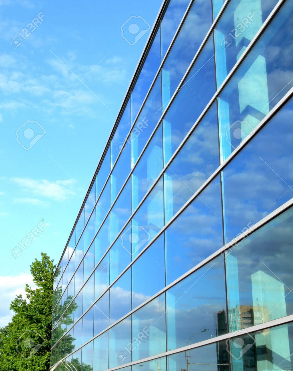Office building with glass windows. Stock Photo - 451267