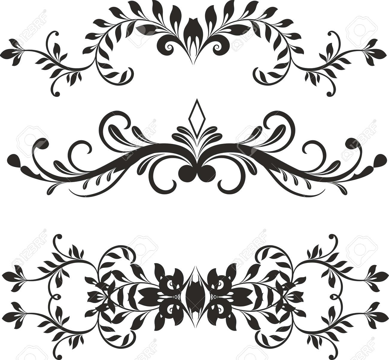 floral design elements vector royalty free cliparts vectors and