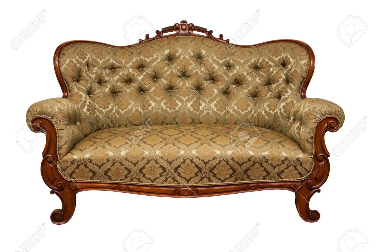 Divano Rosa Antico : Antico divano stile rococò isolato su bianco foto royalty free