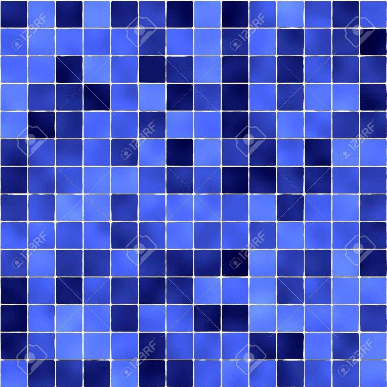 Blue Bathroom Tiles Stock Photo   7260918