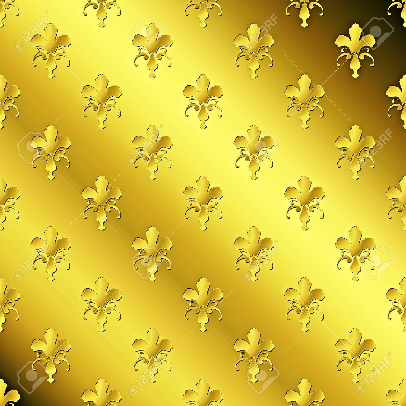 Seamless golden textured pattern Stock Photo - 7750078