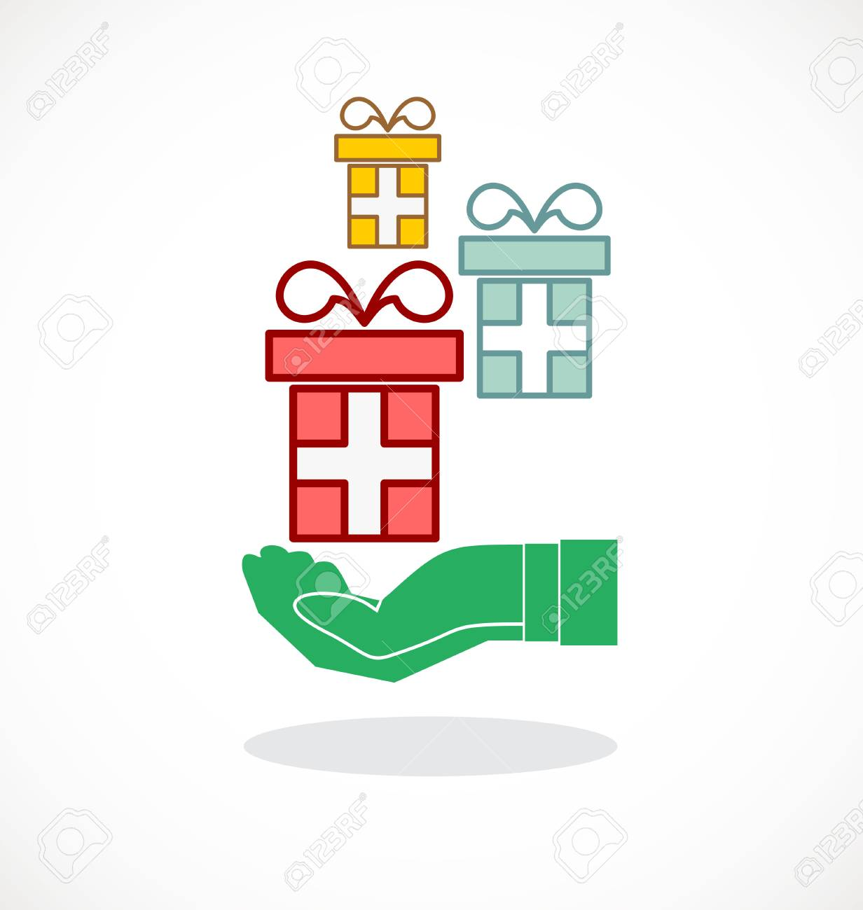 Hand And Gifts Icon Royalty Free Cliparts Vectors And Stock Illustration Image 66435827