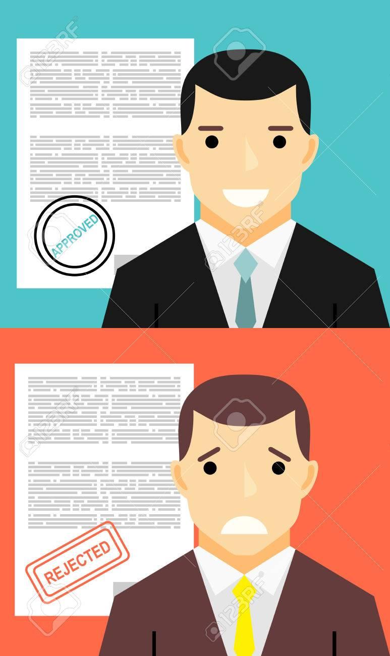 Aprobación Y Rechazo De Contratación. Trabajo, Entrevista Y Su ...