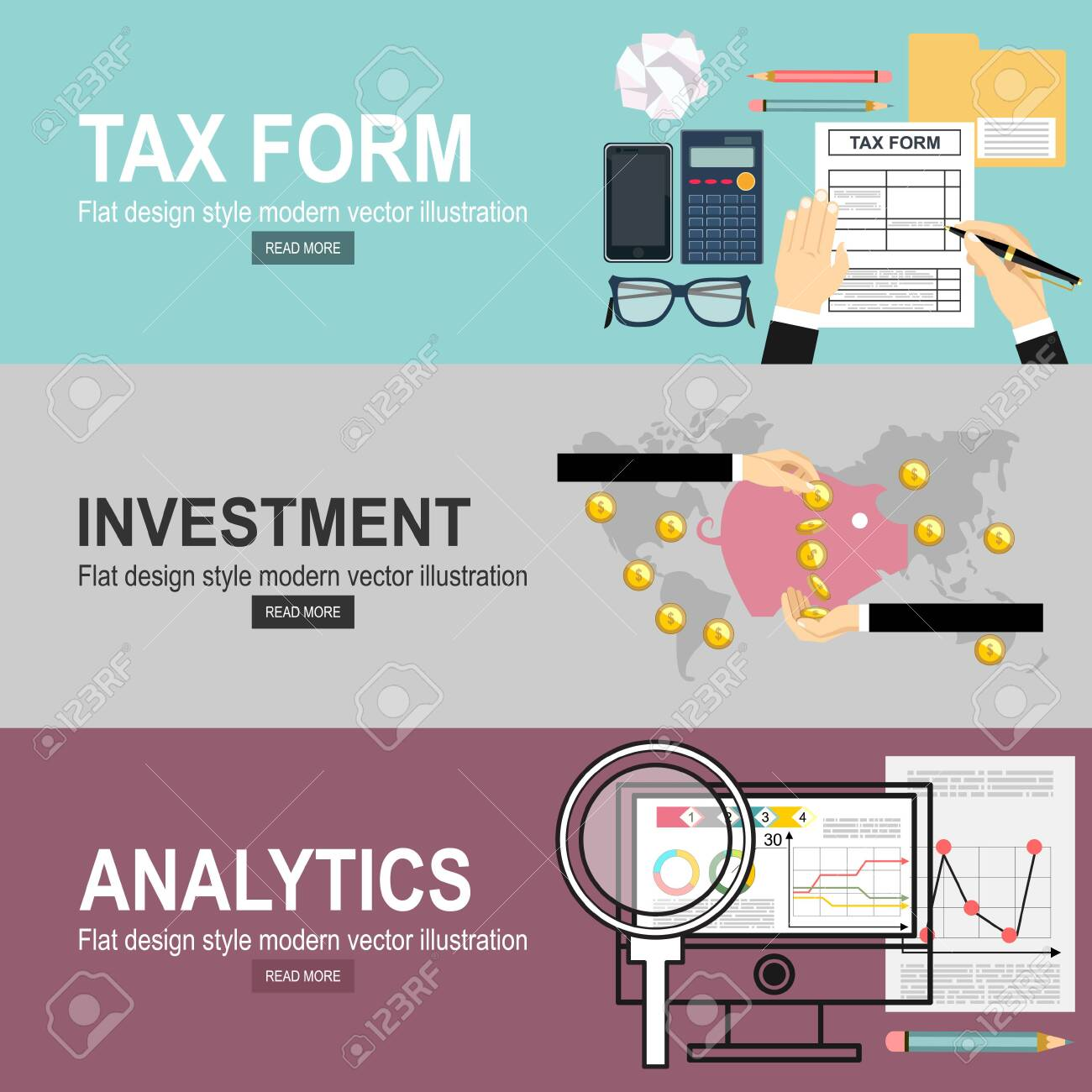 Man hands filling tax form. Analytics Information and Development Website Statistic. Investment hand hold money coin for website and promotion banners. - 136014762