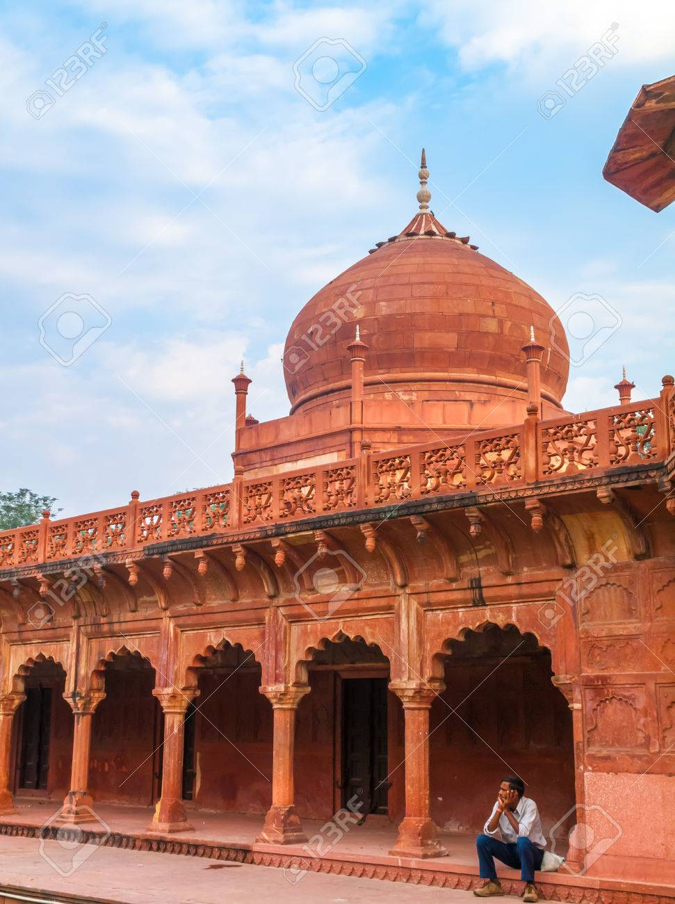 agra fort agra india oct 14 2009 mughal architecture near