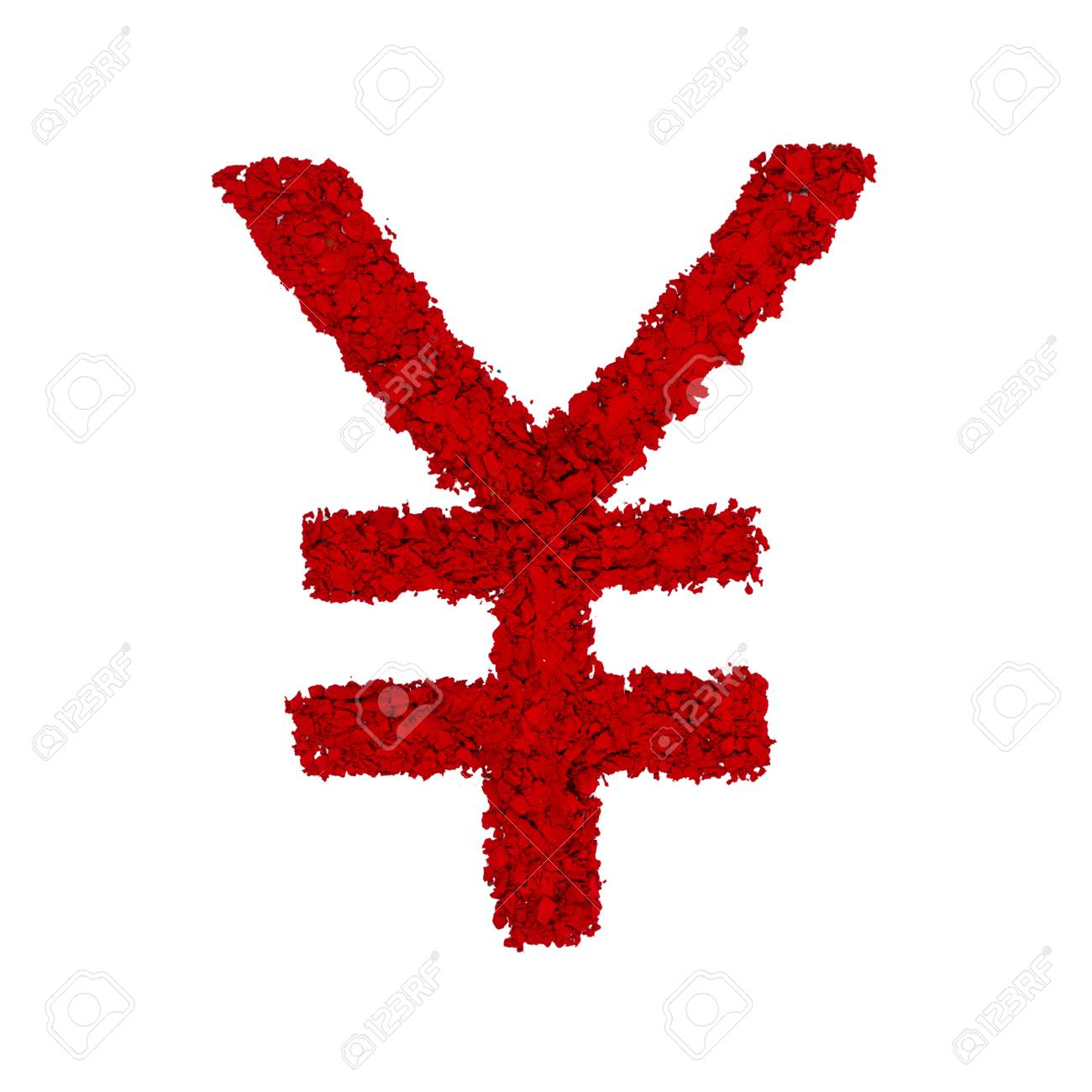Japanese yen symbol made with red color powder isolated on a japanese yen symbol made with red color powder isolated on a white background banque biocorpaavc Choice Image