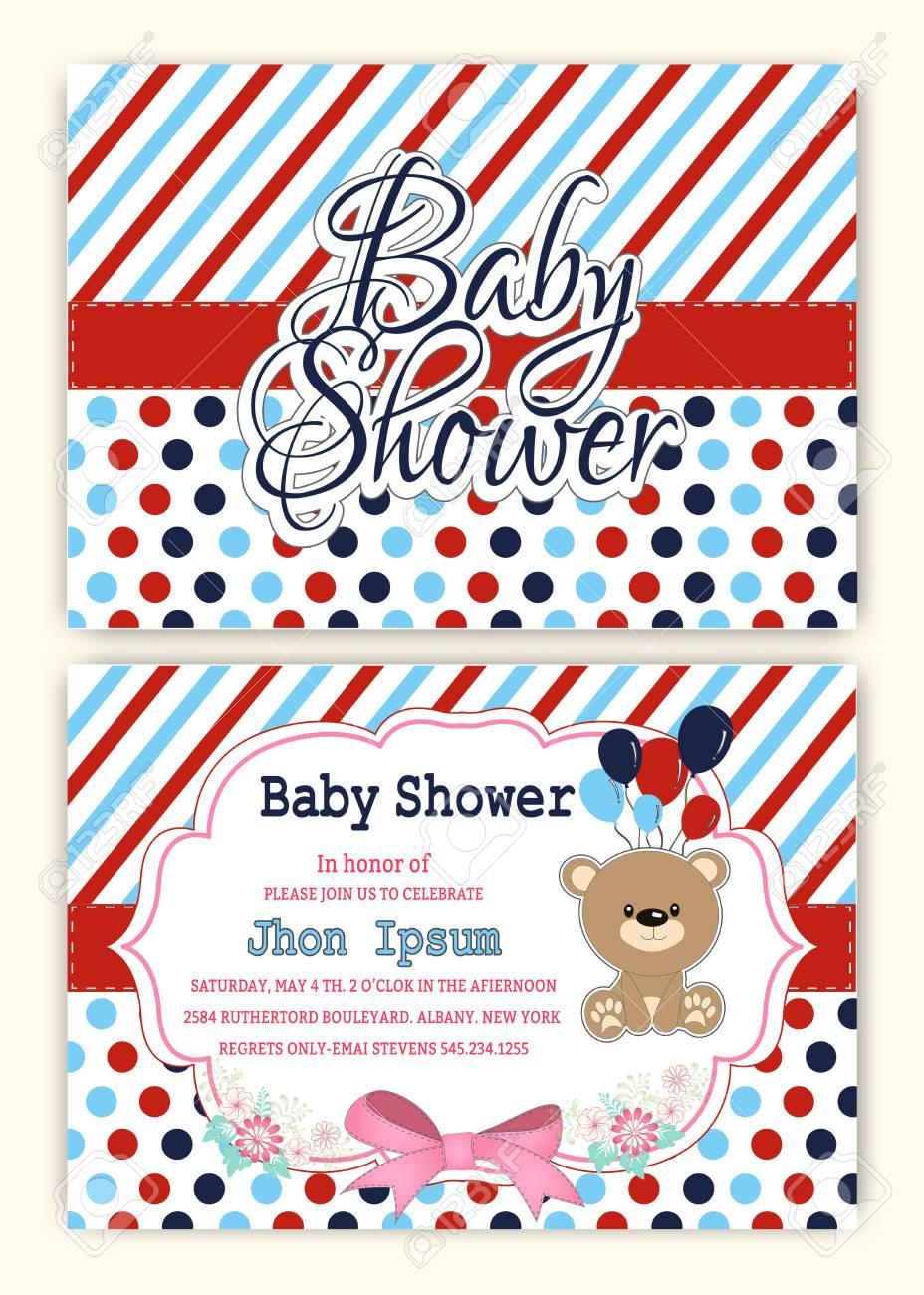 Baby Shower Party Invitation Design Template Ilustraciones