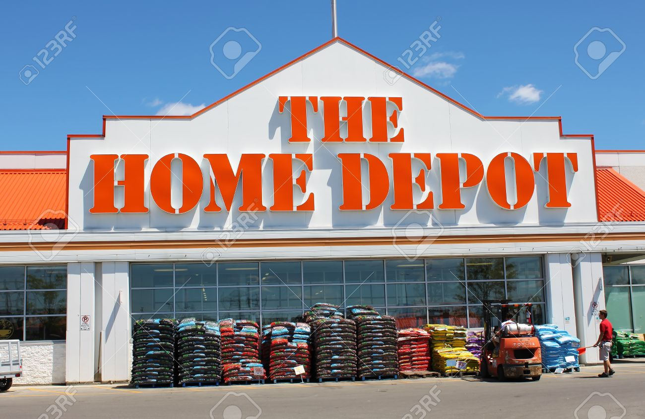 The Home Depot Store Entrance Stock Photo Picture And Royalty