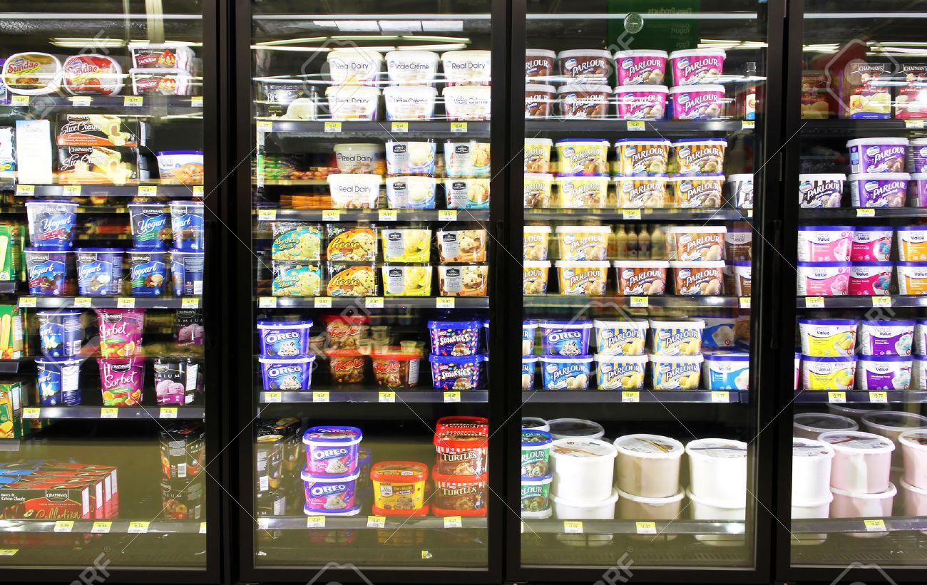 Image result for icecream on shelves