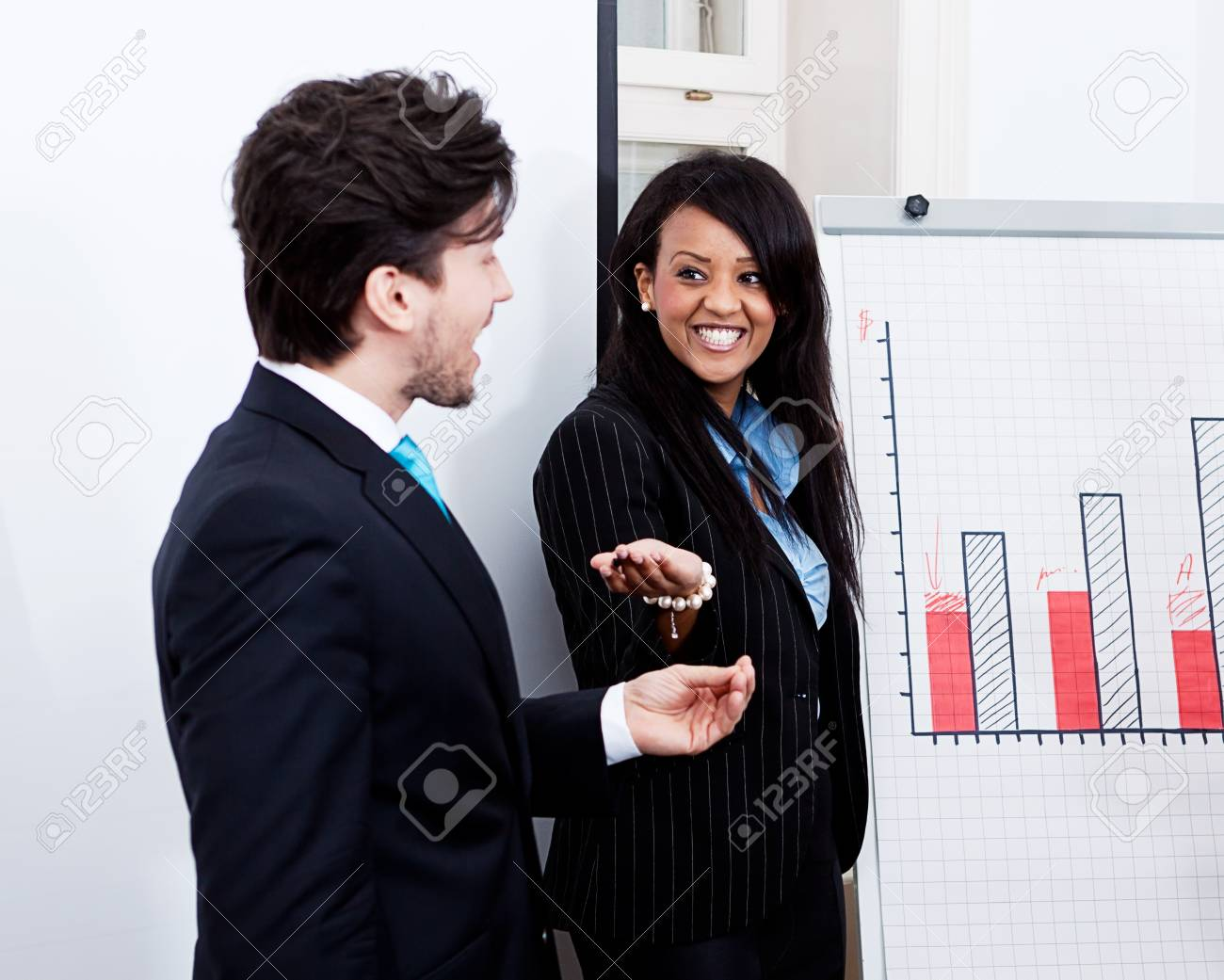 business team on table in office conference seminar presentation Stock Photo - 17289811